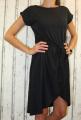 Dámské letní šaty, plážové šaty, pohodlné šaty, dámské šaty s páskem, bavlněné černé šaty, černé šaty se zavazováním,  černé šaty s rozparkem
