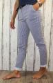 dámské společenské kalhoty, dámské elastické kalhoty, kalhoty s páskem dámské kalhoty, dámské elegantní kalhoty, dámská pohodlné kalhoty, dámské pružné kalhoty, pruhované kalhoty | M, XXL