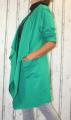 Dámský bavlněný kardigan, zelený kardigan, dámská dlouhá mikina, zelená mikina