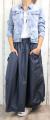Dámská dlouhá šusťáková sukně, dámská balonová sukně, dlouhá tmavě modrá šusťáková sukně, tmavě modrá balonová sukně, šusťáková sukně, tmavě modrá šusťáková sukně