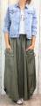 Dámská dlouhá šusťáková sukně, dámská balonová sukně, dlouhá khaki šusťáková sukně, khaki balonová sukně, šusťáková sukně, khaki šusťáková sukně, dlouhá zelená šusťáková sukně