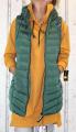 Dámská dlouhá vesta, dámská prošívaná vesta, dlouhá vesta s límcem, dlouhá zelená vesta, vesta se zapínací kapucí, teplá dlouhá vesta, jarní dlouhá vesta, podzimní dlouhá vesta,   S, L