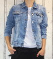 Dámská džínová bunda modrá, letní džínová bunda, džínová elastická bunda, modrá džínová bundička, modrá džíska, jarní džíska | S, M, L, XL, 2XL