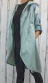 Dámská šusťáková parka, dámský šusťákový kabátek, jarní bunda, šusťáková bunda, jarní parka, šusťákový kabát, mintová jarní parka, podzimní jarní kabát, podzimní zelený kabát, šusťákový mintový kabát, dlouhá šusťáková bunda, dlouhý slabý kabát
