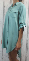 Dámské košilové šaty, dámská dlouhá košile, dámská košilová tunika, lehká dlouhá košile, košilové šaty, mintová dlouhá košile