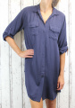 Dámské košilové šaty, dámská dlouhá košile, dámská košilová tunika, lehká dlouhá košile, košilové šaty, tmavě modrá dlouhá košile