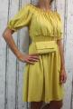 Dámské letní šaty, plážové šaty, dámská tunika, pohodlné šaty, dámské volné šaty, šaty s žebrováním, šaty s kabelkou, společenské šaty, žluté šaty