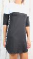 Dámské teplákové šaty, bavlněné sportovní šaty, dlouhá mikina, mikinové šaty, dámské bavlněné šaty, bílé šaty, černé šaty