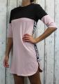 Dámské teplákové šaty, bavlněné sportovní šaty, dlouhá mikina, mikinové šaty, dámské bavlněné šaty, růžové šaty, černé šaty