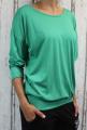 Dámské tričko dlouhý rukáv, tričko spadlá ramena, dámské volné triko, dámské zelené triko