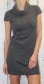 Dámské úpletové šaty, pohodlné šaty, dámské podzimní šaty, teplejší šaty, akrylové šaty, dámské tměvě šedé šaty