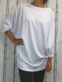 dámské volné triko, volné bílé tričko, tunika netopýří střih, hodně velké triko, velké tričko, dámská volná tunika, tunika netopýří střih, dámské triko dlouhý rukáv, triko pro plnoštíhlé, tričko pro silnější postavu
