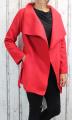 Dámský fleesový kabát, dámský kabátek, jarní kabát, podzimní kabát, dámský červený fleesový kabát