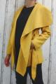 Dámský fleesový kabát, dámský kabátek, jarní kabát, podzimní kabát, dámský hořčicový fleesový kabát, žlutý fleesový kabát