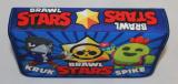 Dětský školní penál BRAWL STARS, chlapecký penál BRAWL STARS, rozkládací penál BRAWL STARS, pouzdro na tužky BRAWL STARS, školní pouzdro, modrý penál