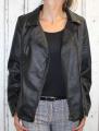 dámská koženková bunda, černá bunda z imitace kůže, dámská velká  bunda, kožená velká bunda, černá koženková bunda, černý křivák, dámský  velký křivák | 3XL, 4XL, 5XL, 6XL, 7XL