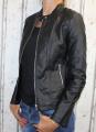 dámská koženková bunda, černá bunda z imitace kůže, dámská bundička, kožená bunda, černá jarní bunda, podzimní koženková bunda, koženková bunda, dámské kožené bundy, koženkové bundy | S, M, L, XL, 2XL