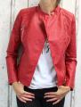 dámská koženková bunda, červená bunda z imitace kůže, dámská bundička, kožená bunda, červená jarní bunda, podzimní koženková bunda, červený křivák, vínová bunda, vínový křivák | S, M, L, XL, XXL