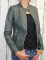 dámská koženková bunda, zelená bunda z imitace kůže, dámská bundička, kožená bunda, zelená jarní bunda, podzimní koženková bunda, koženková bunda, dámské kožené bundy, koženkové bundy | S, M, L, XL, 2XL