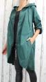 Dámská šusťáková parka, dámský šusťákový kabátek, jarní bunda, šusťáková bunda, jarní parka, šusťákový kabát, zelená jarní parka, podzimní jarní kabát, podzimní tmavě zelený kabát, šusťákový zelený kabát, dlouhá šusťáková bunda, dlouhý slabý kabát