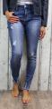 dámské elastické džíny, džíny slimky, dívčí slimky, dívčí elastické džíny, modré džíny, džíny skiny, trhané modré džíny, džíny s vysokým pasem | XXS/25, XS/26, S/27, S-M/28, M/29, M-L/30, L/31