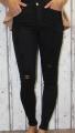 dámské elastické džíny, džíny slimky, dívčí slimky, dívčí elastické džíny, džíny skiny, černé trhané džíny, černé džíny, černé slimky, dámské černé džíny, pružné džíny, džíny s vysokým pasem | XS/34, S/36, M/38, L/40, XL/42