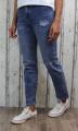 dámské pružné džíny, rovné džíny, dívčí rovné džíny, široké džíny, džíny s vyšším pasem, trhané modré džíny, džíny s vysokým pasem | XS/34, S/36, M/38, L/40, XL/42
