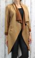 Dámské sako, dámský kardigan, dámské elegantní sáčko, dámský elegantní kardigan, semišový kardigan, semišové sako, dámský dlouhý kardigan, hnědý dlouhý kardigan