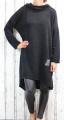 Dámské šaty, dámská tunika, pohodlné šaty, volné šaty, teplejší šaty, černé šaty, šaty s límcem, šaty s dlouhým rukávem,