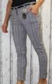 dámské společenské kalhoty s páskem, dámské kalhoty, dámské elegantní kalhoty, dámské pohodlné kalhoty, šedé elegantní kalhoty, kostkované dámské kalhoty, kostkované elegantní kalhoty | S, M, L, XL, XXL