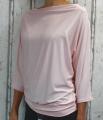 Dámské tričko dlouhý rukáv, tričko spadlá ramena, dámské volné triko, růžové volné tričko, široké tričko, tričko s rantlem, triko netopýří střih