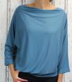 Dámské tričko dlouhý rukáv, tričko spadlá ramena, dámské volné triko, kovové volné tričko, široké tričko, tričko s rantlem, triko netopýří střih