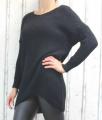 Dámský svetr, dámský dlouhý svetr, dlouhý černý svetr, teplý svetr, volný svetr
