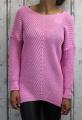 Dámský svetr, dámský dlouhý svetr, dlouhý růžový svetr, teplý svetr, volný svetr