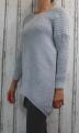 Dámský svetr, dámský dlouhý svetr, dlouhý šedý svetr, teplý svetr, volný svetr