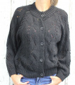 Dámský svetr, dámský oversize svetr, černý volný svetr, lehký volný svetřík, svetr na knoflíky, rozepínací svetr