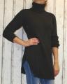 Dámský svetr, dámský oversize svetr, dámský dlouhý svetr, dlouhý teplý rolák, dlouhý černý svetr, teplý svetr, svetr s rolákem, dámský černý rolák, dlouhý černý svetr