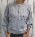 Dámský svetr, dámský oversize svetr, šedý volný svetr, lehký volný svetřík, svetr na knoflíky, rozepínací svetr