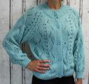 Dámský svetr, dámský oversize svetr, zelený volný svetr, lehký volný svetřík, svetr na knoflíky, rozepínací svetr