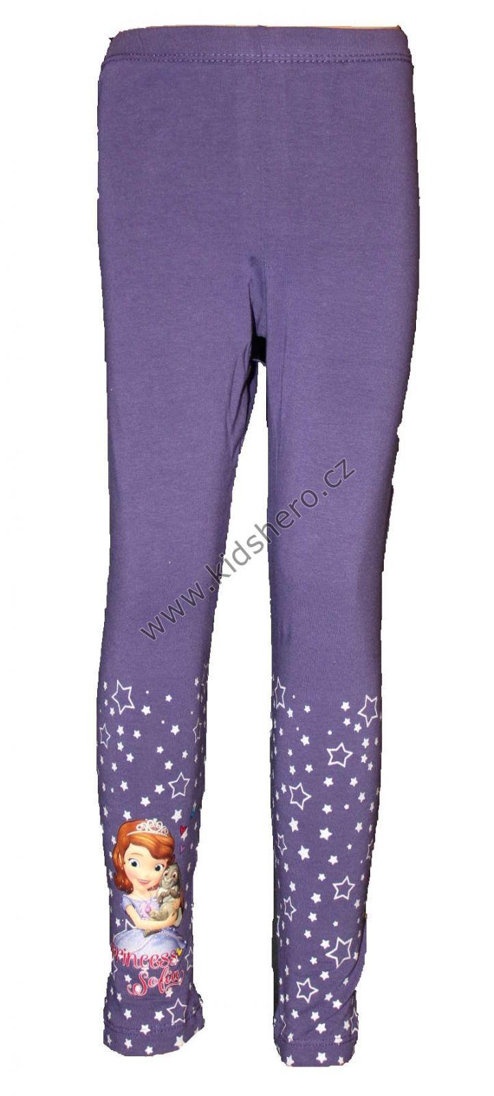 Bavlněné legíny - hvězdičky - SOFIA - fialové Disney