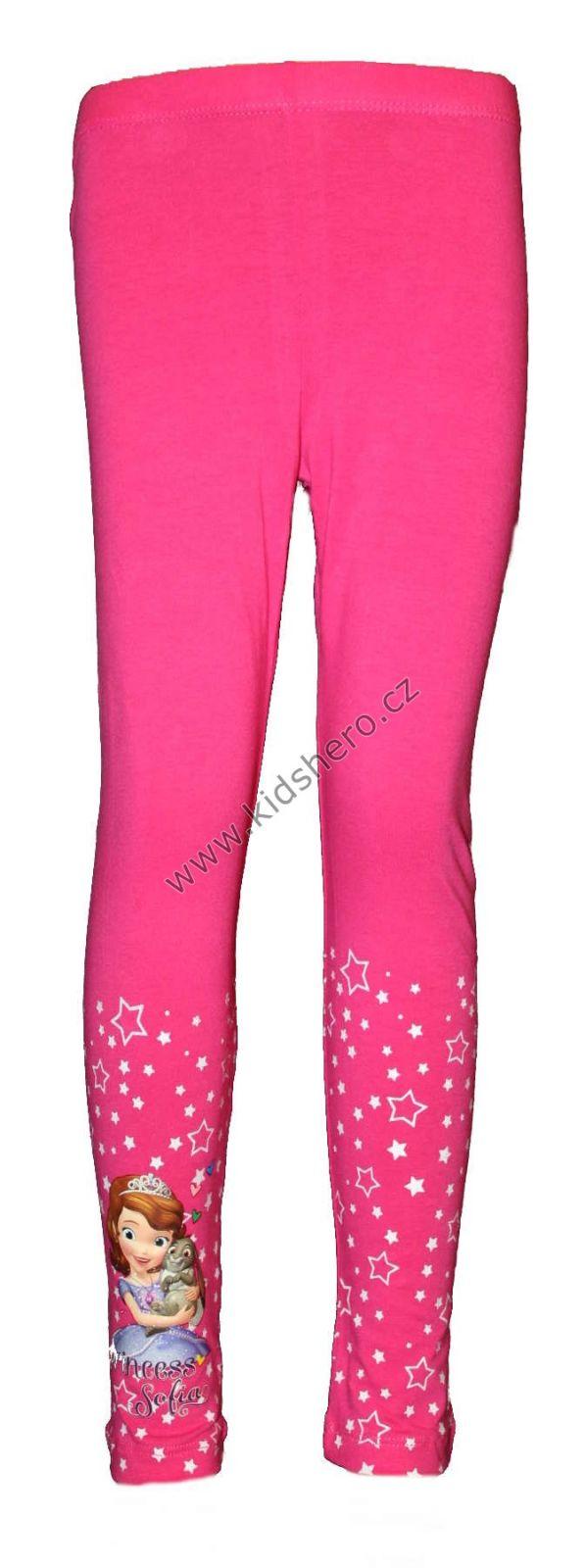 Bavlněné legíny - hvězdičky - SOFIA - růžové Disney