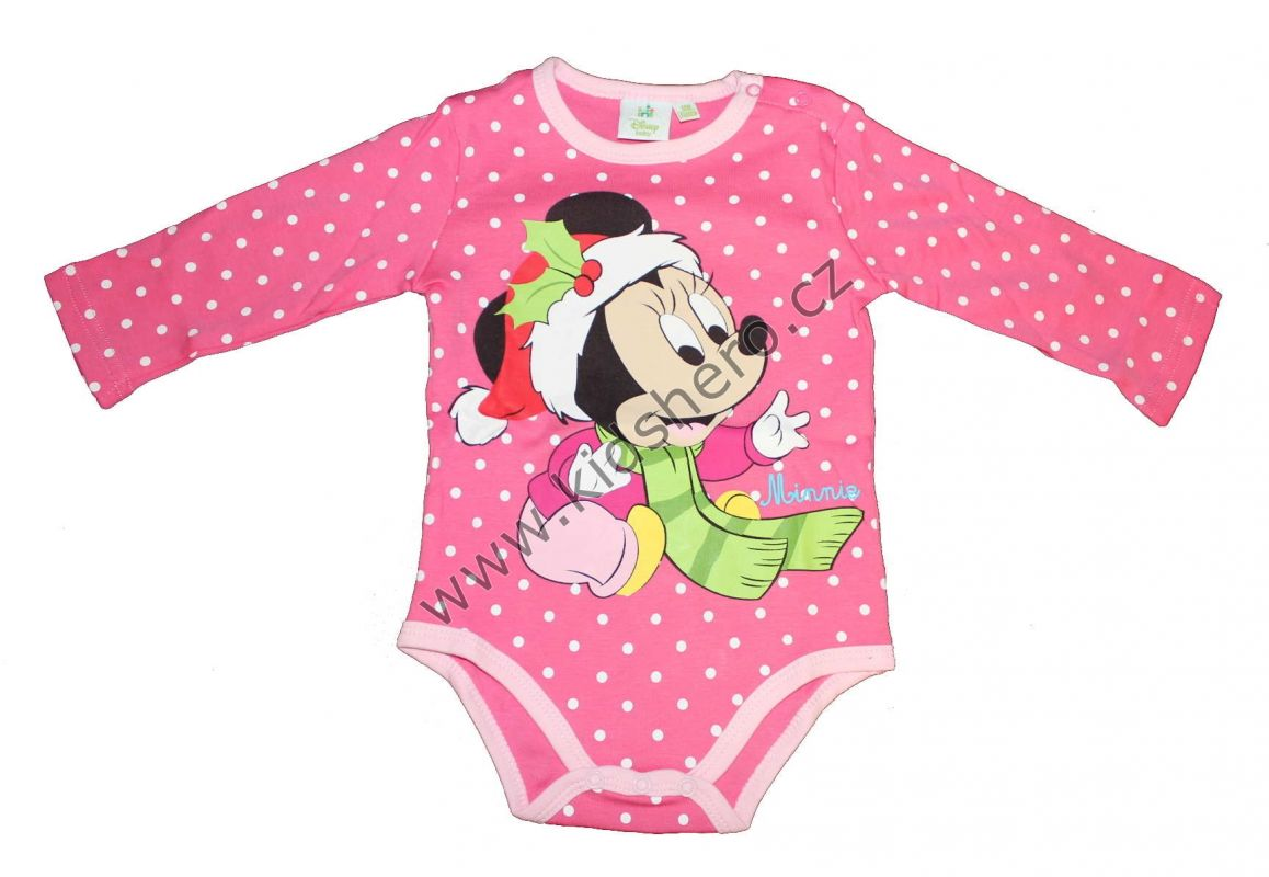 Body douhý rukáv MINNIE - růžové Disney