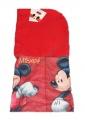 Dětská kukla s fleesem MICKEY MOUSE - červená Disney