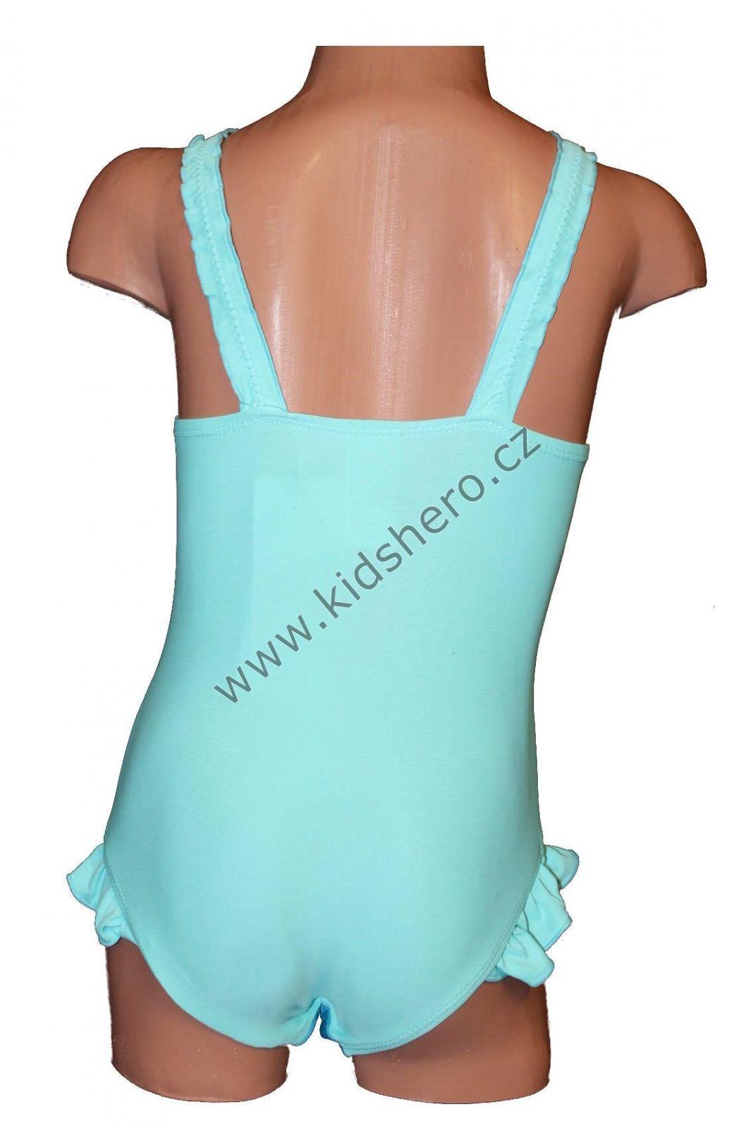 Jednodílné plavky FROZEN - modré Disney 2ba40c2b46