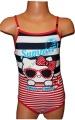 Jednodílné plavky HELLO KITTY - červeno-modré