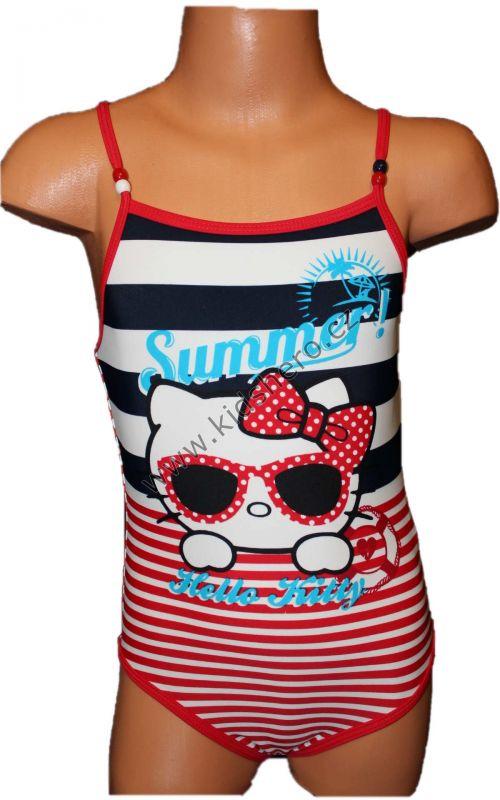 Jednodílné plavky HELLO KITTY - červeno-modré Sanrio b343ad6239