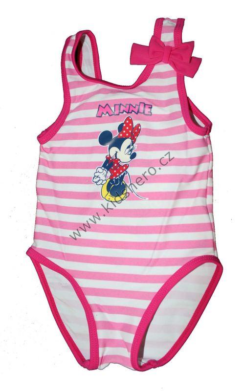 Jednodílné plavky MINNIE - růžové Disney