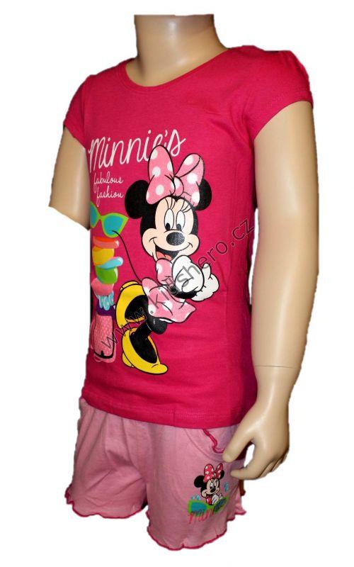 Letní set - Kraťasy + tričko - růžové Disney