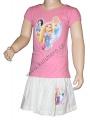 Letní set - tričko+sukýnka PRINCESS - růžovo-bílý