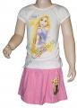 Letní set - tričko+sukýnka PRINCESS - bílo-růžový